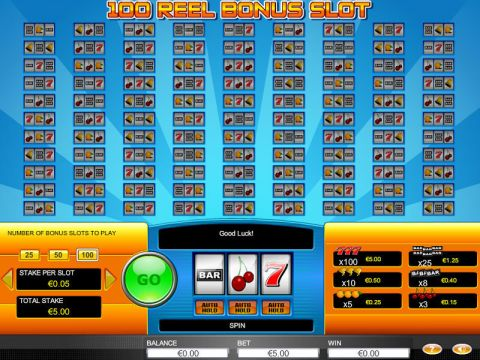 100 Reel Bonus Fun Slots by GTECH with 3 Reel and 1 Line