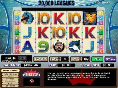 20 000 Leagues Fun Slots by PartyGaming with 5 Reel and 9 Line