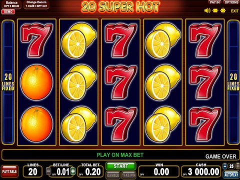 20 Super Hot Fun Slots by EGT with 5 Reel and 20 Line