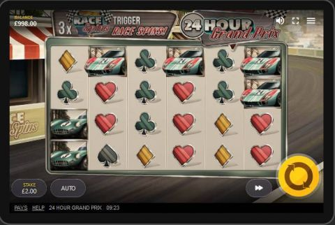 24 Hour Grand Prix Fun Slots by Red Tiger Gaming with 6 Reel and 30 Line