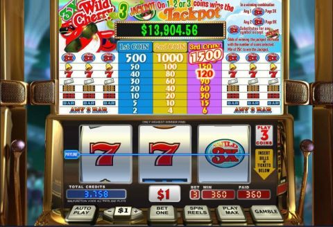 3X Wild Cherry Fun Slots by WGS Technology with 3 Reel and 1 Line