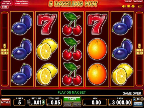 5 Dazling Hot Fun Slots by EGT with 5 Reel and 5 Line