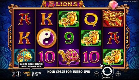 5 Lions Fun Slots by Pragmatic Play with 5 Reel and 243 Line