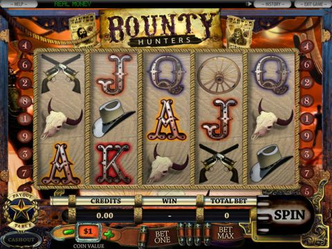 5-Reel Bounty Hunter Fun Slots by DGS with 5 Reel and 9 Line