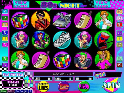 80s Night Fun Slots by Wizard Gaming with 5 Reel and 15 Line