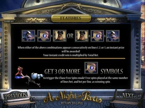 A night in Paris Fun Slots by BetSoft with 5 Reel and
