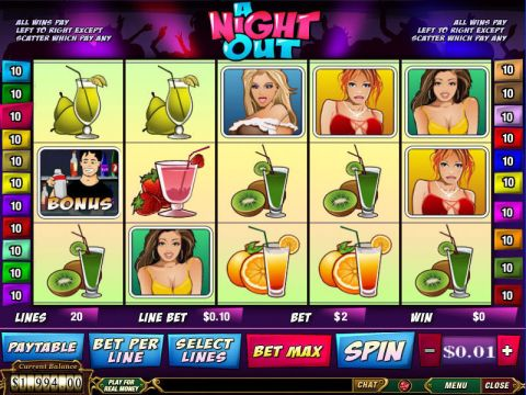 A Night Out Fun Slots by PlayTech with 5 Reel and 20 Line
