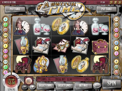 A Switch in Time Fun Slots by Rival with 5 Reel and 20 Line