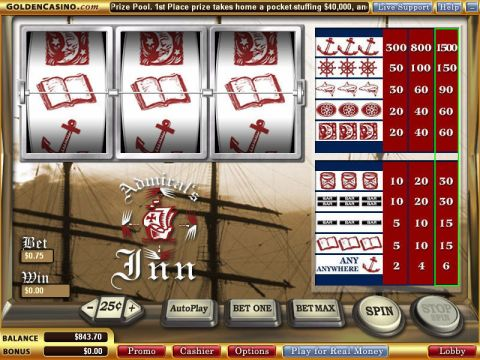 Admiral's Inn Fun Slots by WGS Technology with 3 Reel and 1 Line