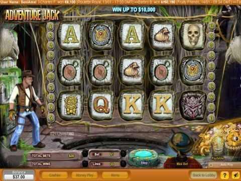 Adventure Jack Fun Slots by NeoGames with 5 Reel and 20 Line