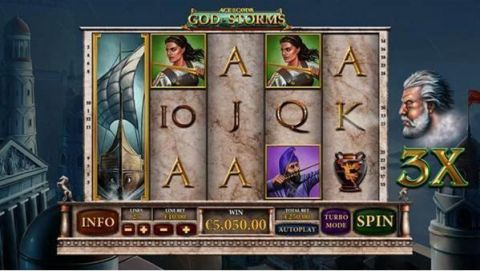 Age of the Gods - God of Storms Fun Slots by PlayTech with 5 Reel and 25 Line