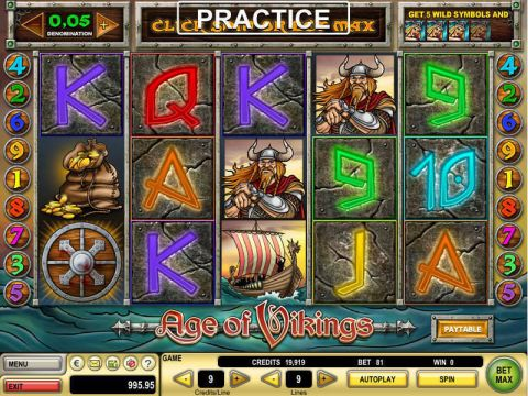 Age of Vikings Fun Slots by GTECH with 5 Reel and 9 Line