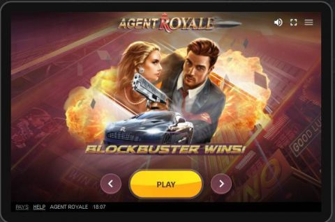 Agent Royale Fun Slots by Red Tiger Gaming with 5 Reel and 20 Line