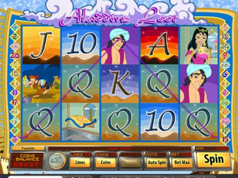 Aladdins Loot Fun Slots by Saucify with 5 Reel and 25 Line