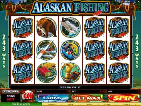 Alaskan Fishing Fun Slots by Microgaming with 5 Reel and 243 Line