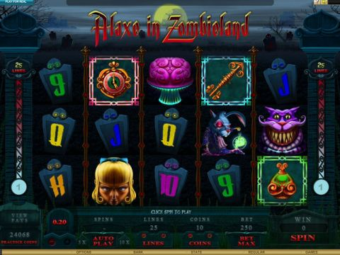 Alaxe in Zombieland Fun Slots by Genesis with 5 Reel and 25 Line