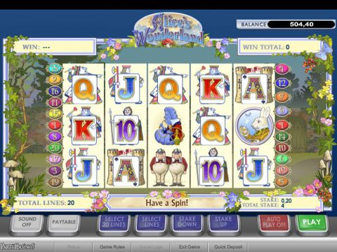 Alice's Wonderland Fun Slots by 888 with 5 Reel and 20 Line