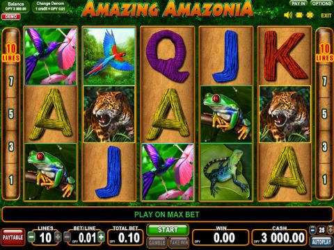 Amazing Amazonia Fun Slots by EGT with 5 Reel and 10 Line