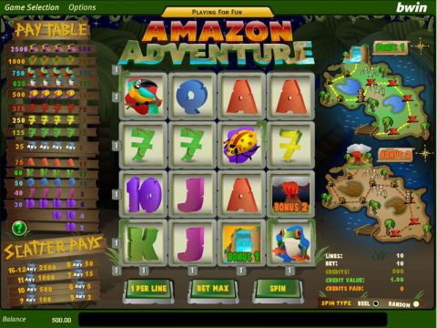Amazon Adventure Fun Slots by Amaya with 16 Reel and 10 Line