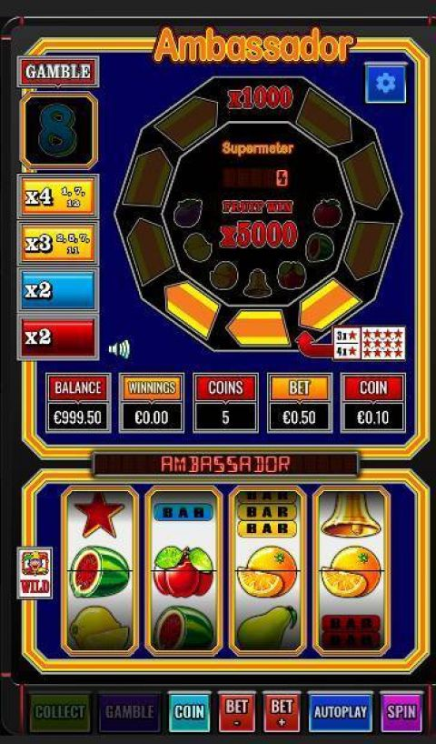 Ambassador Fun Slots by Betdigital with 4 Reel and 1 Line