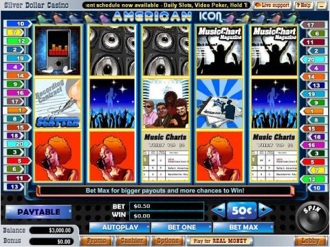 American Icon Fun Slots by Vegas Technology with 5 Reel and 20 Line