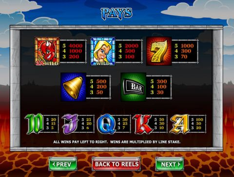 Angel or Devil Fun Slots by Ash Gaming with 5 Reel and 20 Line