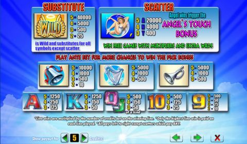Angel's Touch Fun Slots by Amaya with 5 Reel and 40 Line