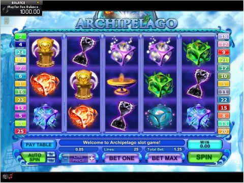 Archipelago Fun Slots by GamesOS with 5 Reel and 25 Line