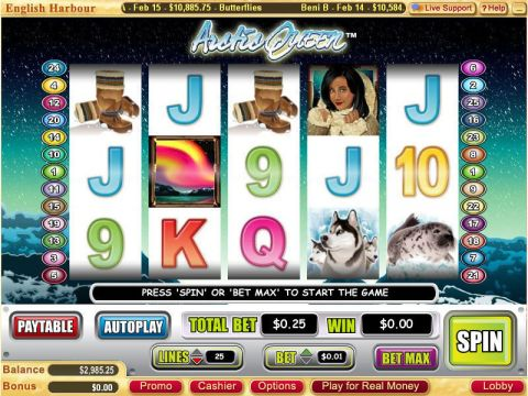 Arctic Queen Fun Slots by Vegas Technology with 5 Reel and 25 Line