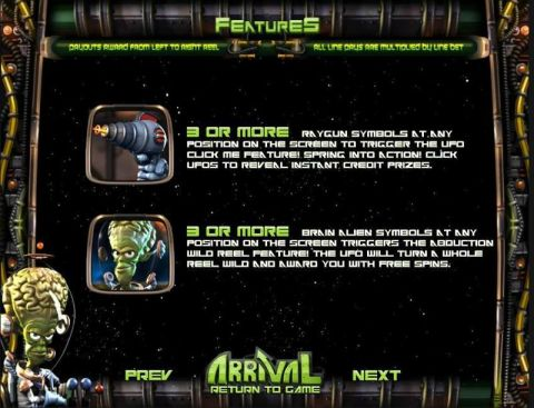 Arrival Fun Slots by BetSoft with 5 Reel and 30 Line