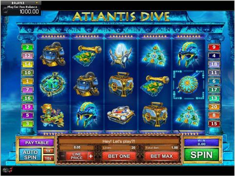 Atlantis Dive Fun Slots by GamesOS with 5 Reel and 20 Line