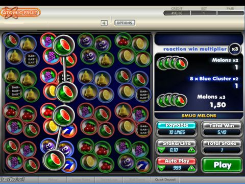 Atomic Fruit Fun Slots by bwin.party with 4 Reel and 10 Line