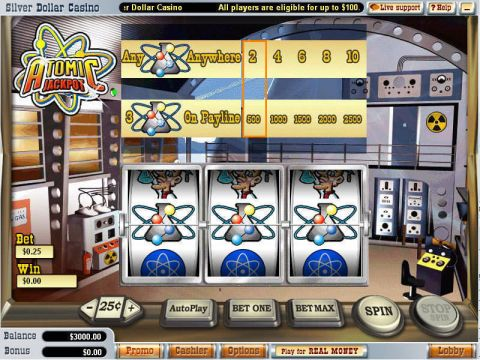 Atomic Jackpot Fun Slots by WGS Technology with 3 Reel and 1 Line