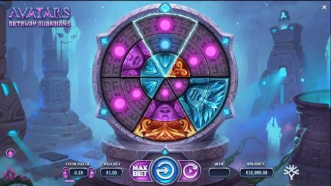 Avatars - Gateway Guardians Fun Slots by Yggdrasil with 4 Reel and
