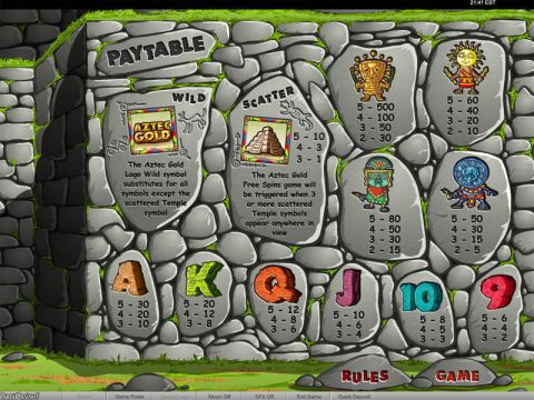 Aztec Gold Raffle Fun Slots by bwin.party with 5 Reel and 50 Line
