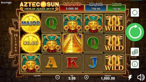 Aztec Sun Fun Slots by Booongo with 5 Reel and 25 Line