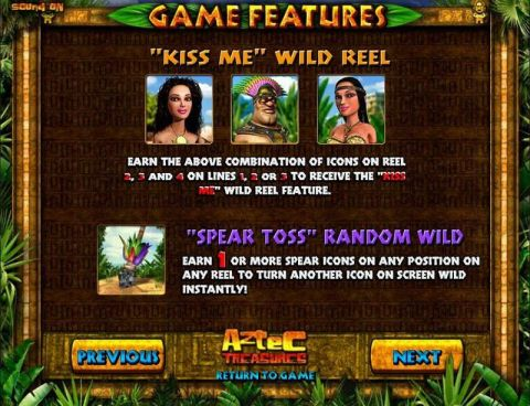 Aztec Treasures Fun Slots by BetSoft with 5 Reel and 30 Line