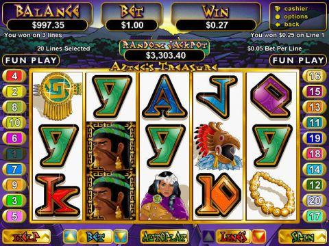 Aztec's Treasure Fun Slots by RTG with 5 Reel and 20 Line