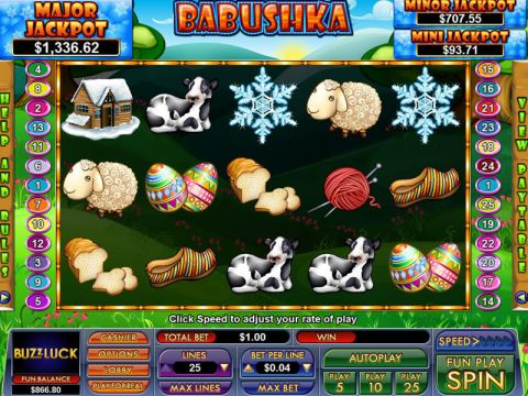 Babushka Fun Slots by NuWorks with 5 Reel and 25 Line