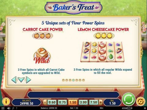 Baker's Treat Fun Slots by Play'n GO with 5 Reel and 15 Line