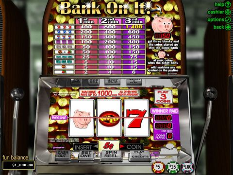 Bank on It Fun Slots by RTG with 3 Reel and 1 Line