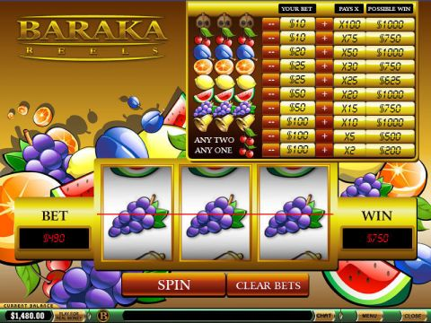 Baraka Reels Fun Slots by PlayTech with 3 Reel and 1 Line