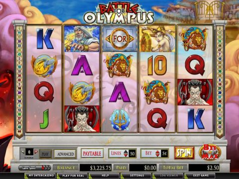 Battle for Olympus Fun Slots by CryptoLogic with 5 Reel and 50 Line