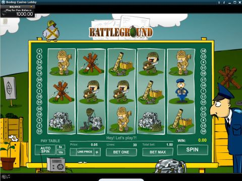 Battleground Fun Slots by RTG with 5 Reel and 30 Line