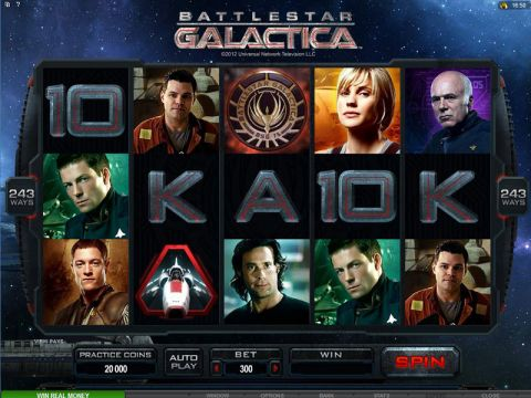Battlestar Galactica Fun Slots by Microgaming with 5 Reel and 243 Line