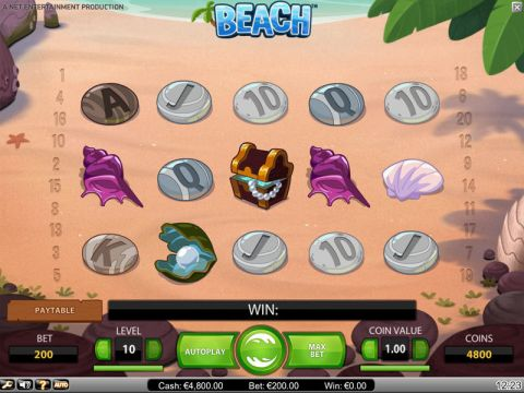 Beach Fun Slots by NetEnt with 5 Reel and 20 Line