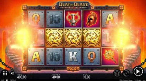 Beat the Beast Cerberus Inferno Fun Slots by Thunderkick with 5 Reel and 9 Line