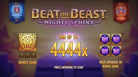 Beat the Beast: Mighty Sphinx Fun Slots by Thunderkick with 5 Reel and 9 Line