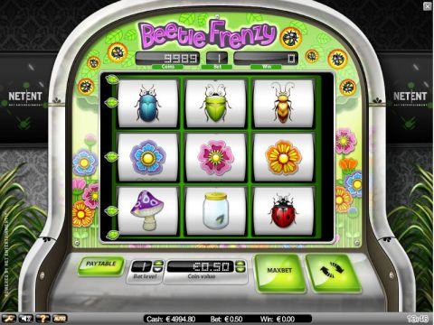 Beetle Frenzy Fun Slots by IN DOUBT with 5 Reel and 9 Line