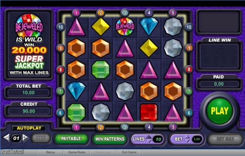 Bejeweled Fun Slots by bwin.party with 0 Reel and 10 Line